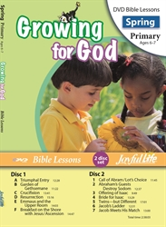 Growing for God Primary Bible Lesson DVD