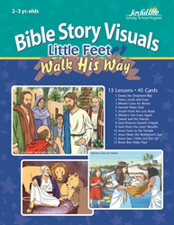 Little Feet Walk His Way 2s & 3s Bible Lesson Guide