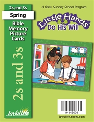Little Hands Do His Will 2s & 3s Mini Bible Memory Picture Cards