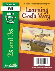 Learning God's Way 2s & 3s Mini Bible Memory Picture Cards
