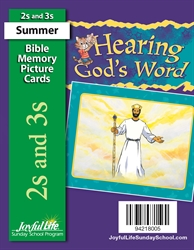 Hearing God's Word 2s & 3s Mini Bible Memory Picture Cards
