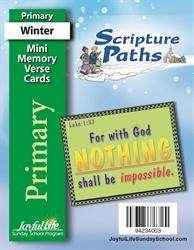 Scripture Paths Primary Mini Memory Verse Cards