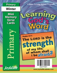 Learning God's Word Primary Mini Memory Verse Card