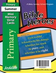 Bible Heroes Primary Mini Memory Verse Cards