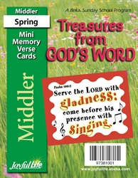 Treasures from God's Word Middler Mini Memory Verse Cards