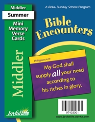 Bible Encounters Middler Mini Memory Verse Cards