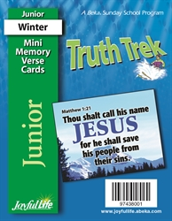 Truth Trek Junior Mini Memory Verse Cards