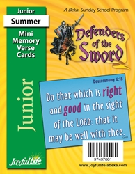 Defenders of the Sword Junior Mini Memory Verse Cards